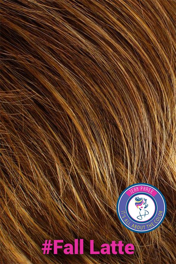Fall Latte Hair Color. Wigs in Salt Lake City Utah